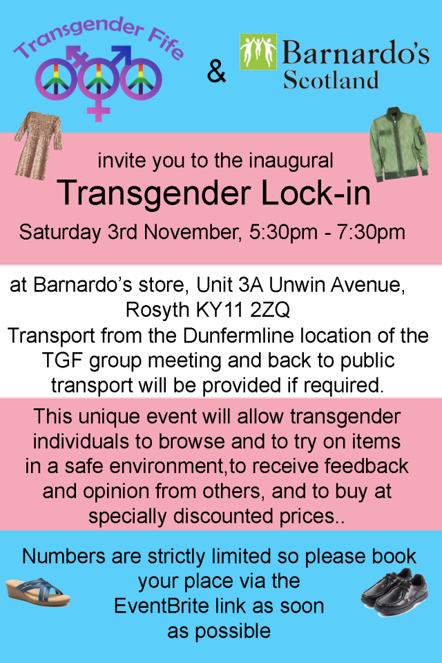 Transgender Lock-In Nov 2018 Flyer